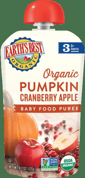Pumpkin Cranberry Apple Baby Food Puree