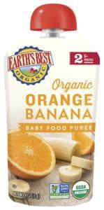 Orange Banana Baby Food Puree