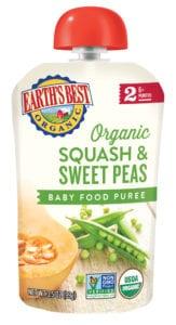 Squash & Sweet Peas Veggie Puree