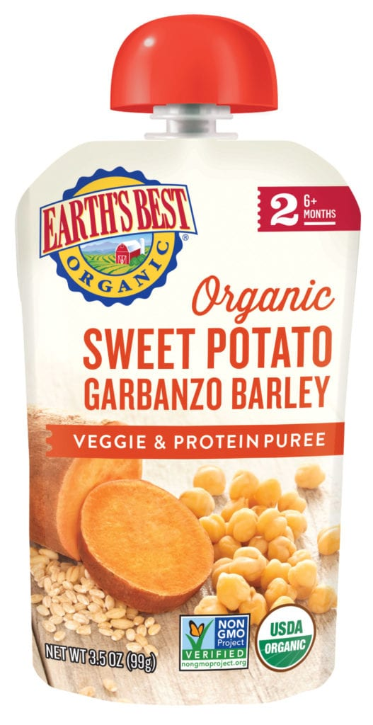 Sweet Potato Garbanzo Barley Veggie & Protein Puree