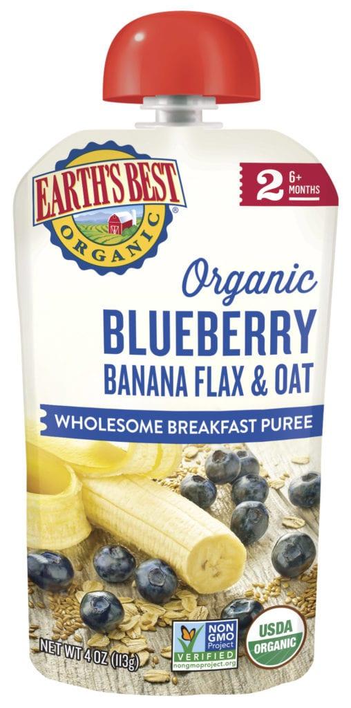 Banana Blueberry Baby Food Puree