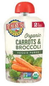 Carrots & Broccoli Veggie Puree