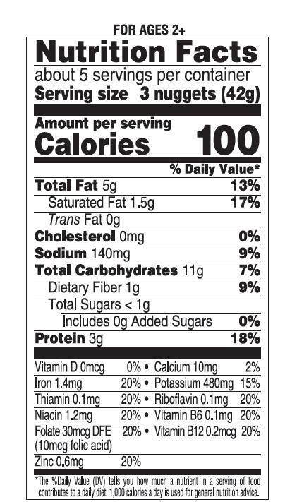 Frozen Gluten Free Broccoli & Cheese Nuggets